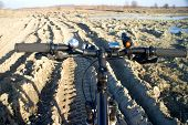 image of dirt-bike  - bike rides out of town in the spring - JPG