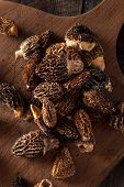 picture of morel mushroom  - Raw Organic Morel Mushrooms Ready to Cook - JPG