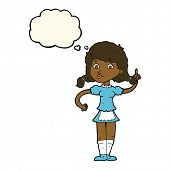 pic of maids  - cartoon pretty maid woman with thought bubble - JPG