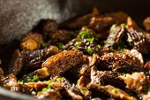 foto of morel mushroom  - Organic Sauteed Morel Mushrooms REady to Eat - JPG