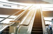 image of escalator  - Shop escalator in shopping center - JPG