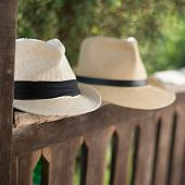 stock photo of panama hat  - Panama hat - JPG