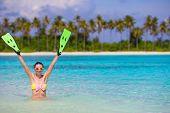foto of fin  - Travel beach fun concept  - JPG