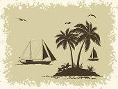 picture of tropical birds  - Tropical Sea Landscape - JPG