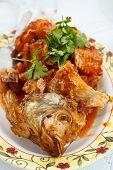 foto of tamarind  - fried snapper with tamarind sauce thai food - JPG