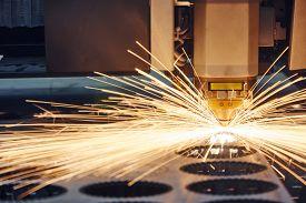 stock photo of sparking  - metal working - JPG