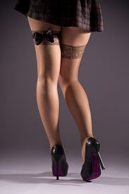 pic of stocking-foot  - Female prostitution violation of the law bow tie on his hip payment for services selling body for money the punishment for a crime immorality youth feet in nylon stockings - JPG