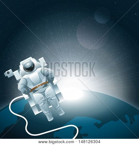 Digital vector planet