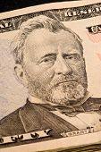 Ulysses S. Grant portrait on Fifty Dollar Bill