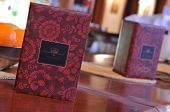 menu book in luxury restaurant hotel caffee