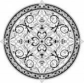 Patrón Floral árabe Adorno