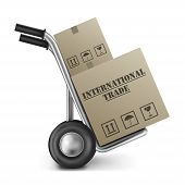International Trade Hand Truck Cardboard Box