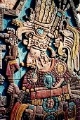 Maya Indian High Priest Relief Sculpture