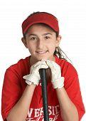 Постер, плакат: Бейсбол девушка