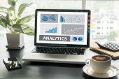 Analytics (analysis Analytic Marketing  Graph Diagram) poster
