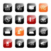 Communication Icon Set- Glossy Series