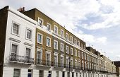 stock photo of knightsbridge  - Terraced Luxury Houses in Knightsbridge London UK - JPG