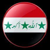 Irak Flagge Button