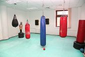 stock photo of pugilistic  - ring box interior in the health club without people - JPG