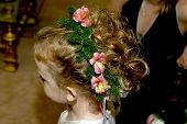 Flower Girl Has Beautiful Hairdo