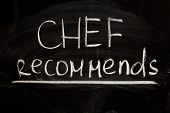 Chef's Suggestion - Writings On The Blackboard With Chalk