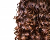 stock photo of perm  - Wavy Hair isolated on white - JPG