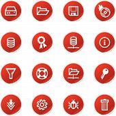 Red Sticker Server Icons