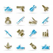 Army, weapon and arms Icons