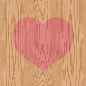 wood with heart pattern background