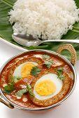 image of kadai  - nargisi kofta curry and rice - JPG