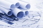 rolls of architecture blueprint  & tools