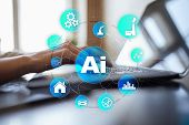 Ai, Artificial Intelligence, Machine Learning, Neural Networks And Modern Technologies Concepts. Iot poster