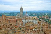 View Of The Duomo Di Siena In A Cloudy September Afternoon. Siena, Italy poster