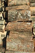 Pile Of Chopped Firewood Logs