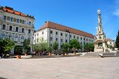 City Hall Square Of Pecs In Hungary. Pecs - City In Baranya County. World Heritage Site By Unesco, H poster