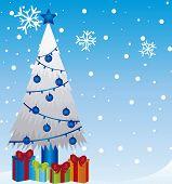 kerstboom met cadeau