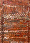 Brick Wall Of Red Color, Wide Panorama Of Masonry poster