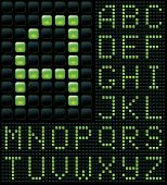dot matrix with alphabet