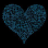 Dotted Heart on Black