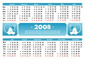 2008 Blue Rat Calendar (Horizontal)