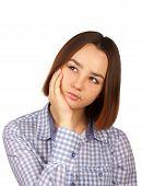 Beautiful Thoughtful Young Woman