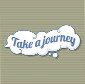 Take A Journey Sticker Icon. Cartoon Of Take A Journey Sticker Vector Icon For Web Design Isolated O poster