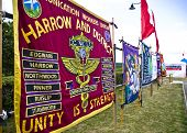 Harrow And District Communication Workers Union Banner At The Tolpuddle Martyrs Festival. Tolpuddle,