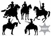 cowboy, sheriff, rider in a sombrero