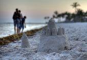 Sand Castle On The Beach Of Key West