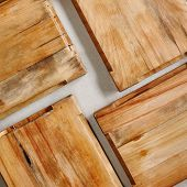 Empty Old Wooden Cutting Board Background Template Top View. Scorched Wooden Board Mockup Texture. N poster