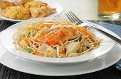 Thai Chicken Salad With Crab Rangoon