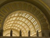 foto of amtrak  - Interior Archways at Union Station in Washington DC - JPG