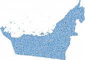 Kaart van Verenigde Arabische Emiraten