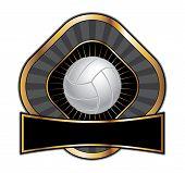 Volleyball Design Template Diamond